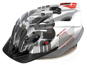 Picture of KASK ROWEROWY 188 B-SKIN TOMCAT WHITE/BLACK S